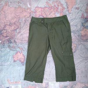 5x$25 Green Olive Capri cargo CK pants